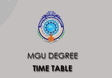 MGU Grade Time Table 2021