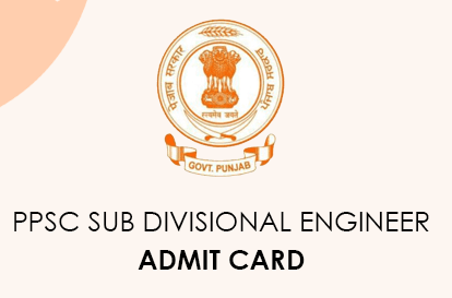 PPSC Subdivision Engineer Admit Card 2021