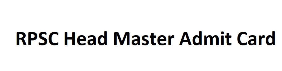 Rajasthan Head Master Admit Card 2021