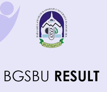BGSBU Result 2021
