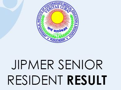 JIPMER Senior Resident Result 2021