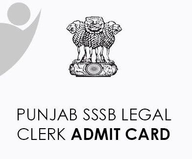 Punjab SSSB Legal Clerk Admit Card 2021