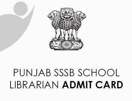 Punjab SSSB School Librarian Admt Card 2021